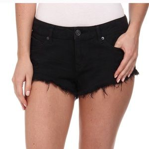 Fringed Jean Shorts